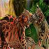 Naughty tigers in the woods puzzle